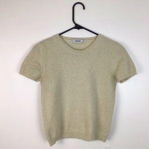 Moschino Gold Cream Wool Angora Shirt
